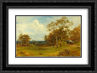 On Ripple Common, Worcestershire 24x18 Black or Gold Ornate Framed and Double Matted Art Print by David Bates