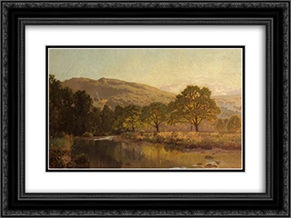 River Landscape 24x18 Black or Gold Ornate Framed and Double Matted Art Print by David Bates