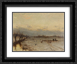 Souvenir of March 24x20 Black or Gold Ornate Framed and Double Matted Art Print by David Bates