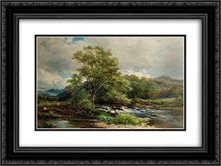 The Banks of the Brathay, Ambleside, Westmoreland 24x18 Black or Gold Ornate Framed and Double Matted Art Print by David Bates