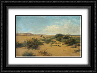 The Border of the Nile Valley 24x18 Black or Gold Ornate Framed and Double Matted Art Print by David Bates