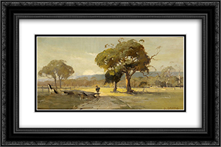 Ercildoune, near Ballarat 24x16 Black or Gold Ornate Framed and Double Matted Art Print by David Davies