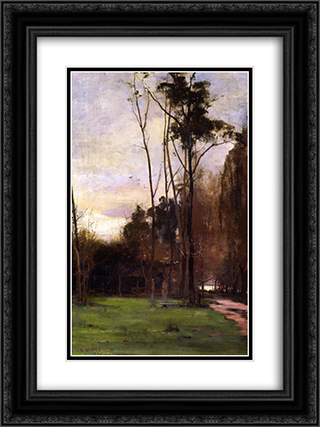 Friendly Society's Gardens 18x24 Black or Gold Ornate Framed and Double Matted Art Print by David Davies
