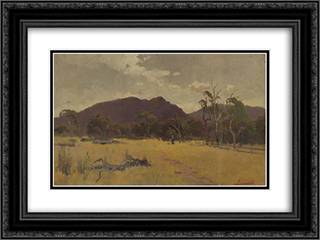 Landscape 24x18 Black or Gold Ornate Framed and Double Matted Art Print by David Davies