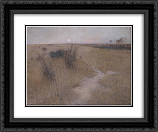 Moonrise 24x20 Black or Gold Ornate Framed and Double Matted Art Print by David Davies
