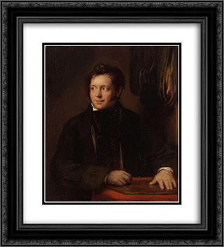 Abraham Raimbach 20x22 Black or Gold Ornate Framed and Double Matted Art Print by David Wilkie