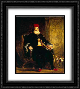 Kavallali Mehmet Ali Pasha el-Kebir 20x22 Black or Gold Ornate Framed and Double Matted Art Print by David Wilkie