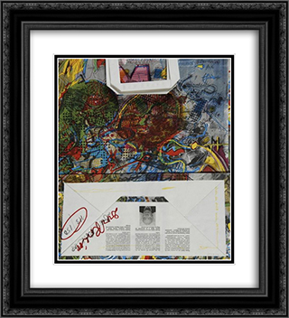Untitled (Migros) 20x22 Black or Gold Ornate Framed and Double Matted Art Print by Dieter Roth