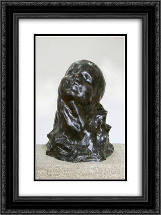Child Head 18x24 Black or Gold Ornate Framed and Double Matted Art Print by Dimitrie Paciurea
