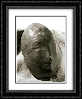 Mask 20x24 Black or Gold Ornate Framed and Double Matted Art Print by Dimitrie Paciurea