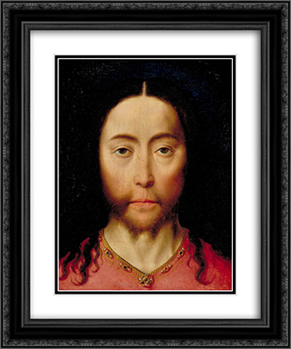 Head of Christ 20x24 Black or Gold Ornate Framed and Double Matted Art Print by Dirk Bouts