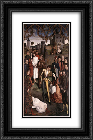 Justice of the Emperor Otto The Execution of the Innocent Count 16x24 Black or Gold Ornate Framed and Double Matted Art Print by Dirk Bouts