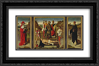 Martyrdom of Saint Erasmus 24x16 Black or Gold Ornate Framed and Double Matted Art Print by Dirk Bouts