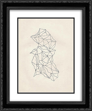 Entopic Graphomania 20x24 Black or Gold Ornate Framed and Double Matted Art Print by Dolfi Trost
