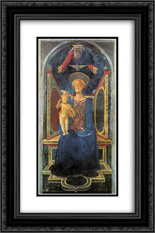Madonna and Child 16x24 Black or Gold Ornate Framed and Double Matted Art Print by Domenico Veneziano