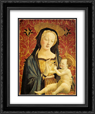 Madonna and Child 20x24 Black or Gold Ornate Framed and Double Matted Art Print by Domenico Veneziano