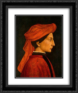 Matteo Olivieri 20x24 Black or Gold Ornate Framed and Double Matted Art Print by Domenico Veneziano