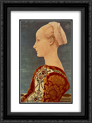 Portrait of a Young Woman 18x24 Black or Gold Ornate Framed and Double Matted Art Print by Domenico Veneziano
