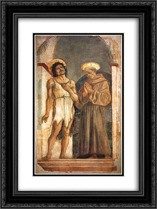 St. John the Baptist and St. Francis of Assisi 18x24 Black or Gold Ornate Framed and Double Matted Art Print by Domenico Veneziano