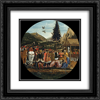 The Adoration of the Magi 20x20 Black or Gold Ornate Framed and Double Matted Art Print by Domenico Veneziano