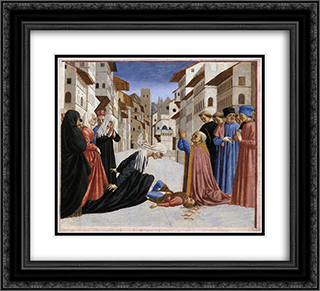 The Miracle of St. Zenobius 22x20 Black or Gold Ornate Framed and Double Matted Art Print by Domenico Veneziano