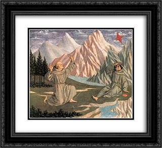 The Stigmatization of St. Francis 22x20 Black or Gold Ornate Framed and Double Matted Art Print by Domenico Veneziano