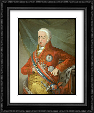 Retrato de D. Joo VI, Rei de Portugal 20x24 Black or Gold Ornate Framed and Double Matted Art Print by Domingos Sequeira