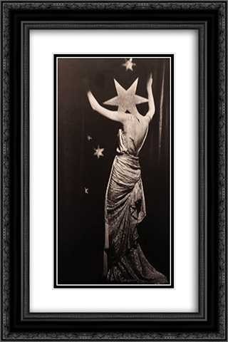 Untitled 16x24 Black or Gold Ornate Framed and Double Matted Art Print by Dora Maar