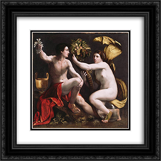 An Allegory of Fortune 20x20 Black or Gold Ornate Framed and Double Matted Art Print by Dosso Dossi