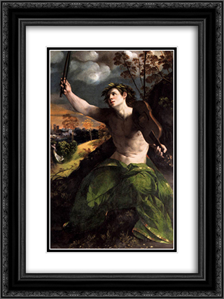 Apollo and Daphne 18x24 Black or Gold Ornate Framed and Double Matted Art Print by Dosso Dossi