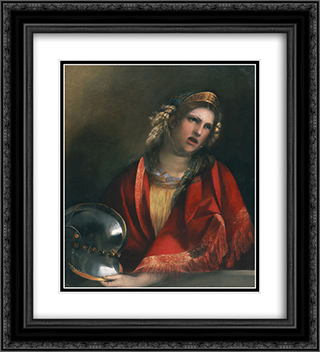 Didone 20x22 Black or Gold Ornate Framed and Double Matted Art Print by Dosso Dossi