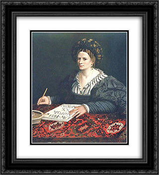 Laura Pisani 20x22 Black or Gold Ornate Framed and Double Matted Art Print by Dosso Dossi