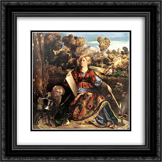 Melissa (Circe) 20x20 Black or Gold Ornate Framed and Double Matted Art Print by Dosso Dossi