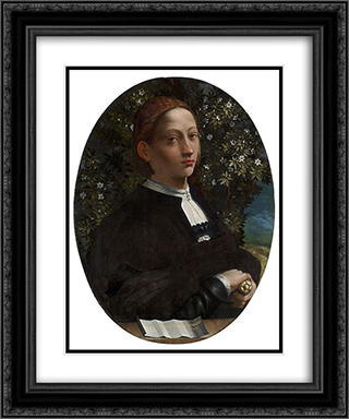 Portrait of a Youth, probably Lucrezia Borgia 20x24 Black or Gold Ornate Framed and Double Matted Art Print by Dosso Dossi