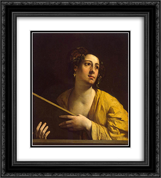 Sibyl 20x22 Black or Gold Ornate Framed and Double Matted Art Print by Dosso Dossi