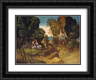 The Three Ages of Man 24x20 Black or Gold Ornate Framed and Double Matted Art Print by Dosso Dossi