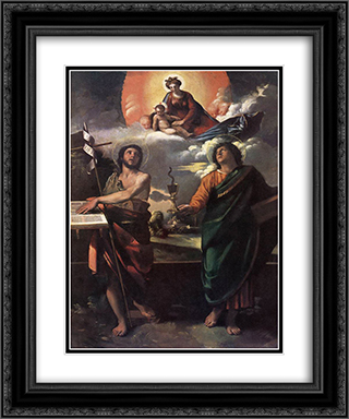The Virgin Appearing to Saints John the Baptist and John the Evangelist 20x24 Black or Gold Ornate Framed and Double Matted Art Print by Dosso Dossi