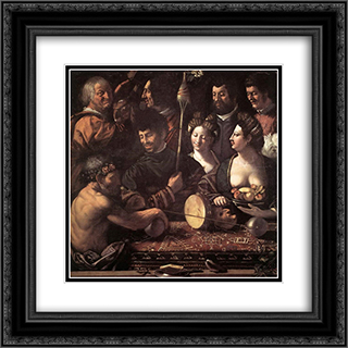 Witchcraft (Allegory of Hercules) 20x20 Black or Gold Ornate Framed and Double Matted Art Print by Dosso Dossi