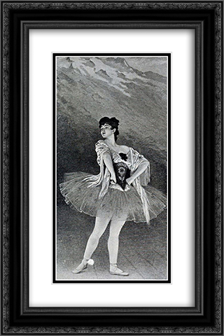 Madame Emma Sandrini. Ballet de la Maladetta 16x24 Black or Gold Ornate Framed and Double Matted Art Print by Edouard Debat Ponsan