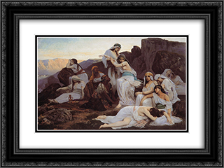 The Daughter of Jephthah 24x18 Black or Gold Ornate Framed and Double Matted Art Print by Edouard Debat Ponsan