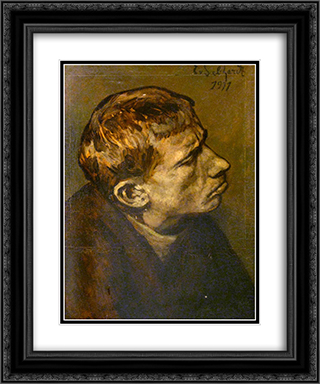 Portrait Of A Man 20x24 Black or Gold Ornate Framed and Double Matted Art Print by Eduard von Gebhardt