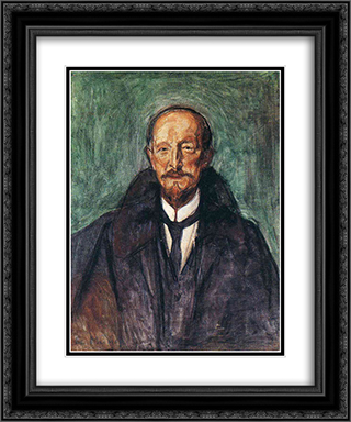 Albert Kollmann 20x24 Black or Gold Ornate Framed and Double Matted Art Print by Edvard Munch