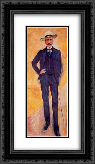 Count Harry Kessler 14x24 Black or Gold Ornate Framed and Double Matted Art Print by Edvard Munch