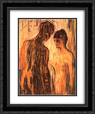 Cupid and Psyche 20x24 Black or Gold Ornate Framed and Double Matted Art Print by Edvard Munch