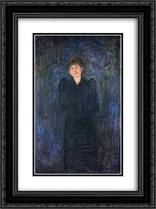 Dagny Juel Przybyszewska 18x24 Black or Gold Ornate Framed and Double Matted Art Print by Edvard Munch
