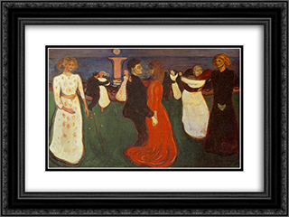 Dance Of Life 24x18 Black or Gold Ornate Framed and Double Matted Art Print by Edvard Munch