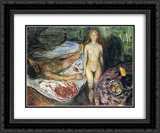 Death of Marat I 24x20 Black or Gold Ornate Framed and Double Matted Art Print by Edvard Munch