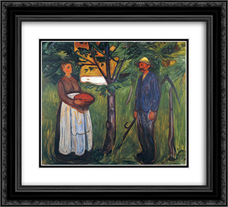 Fertility II 22x20 Black or Gold Ornate Framed and Double Matted Art Print by Edvard Munch