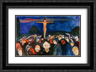 Golgotha 24x18 Black or Gold Ornate Framed and Double Matted Art Print by Edvard Munch