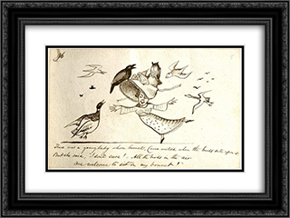 Nonsense 24x18 Black or Gold Ornate Framed and Double Matted Art Print by Edward Lear